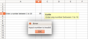 LibreOffice Calc - Data Validation