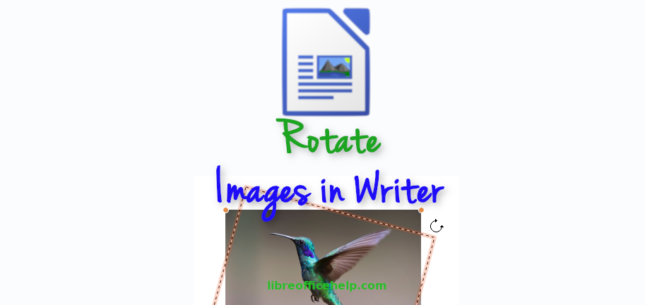 How to Rotate Images in LibreOffice Writer