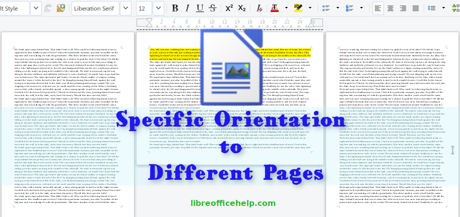 How To Apply Different Orientation In Specific Writer Page