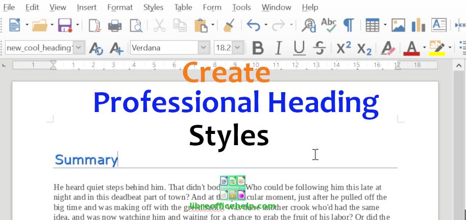 Create Professional Custom Heading Style in Writer
