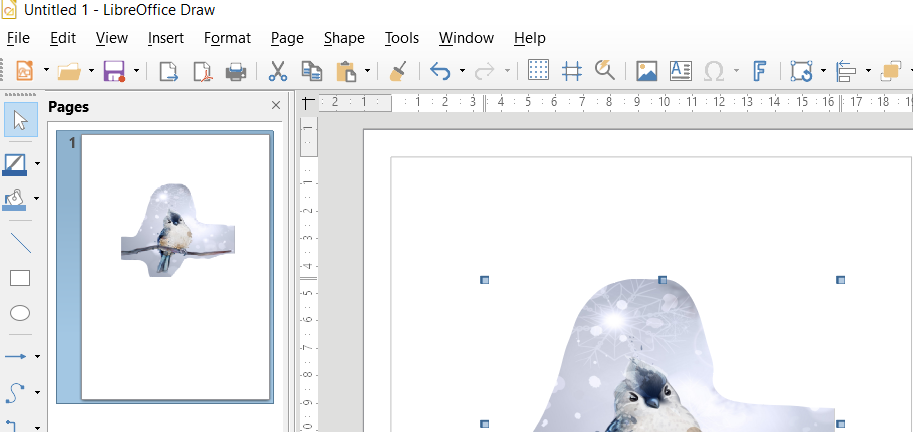 How to Erase in LibreOffice Draw