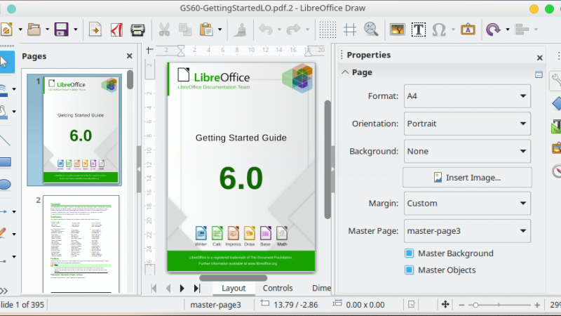 Modify PDF Documents using LibreOffice Draw for Free