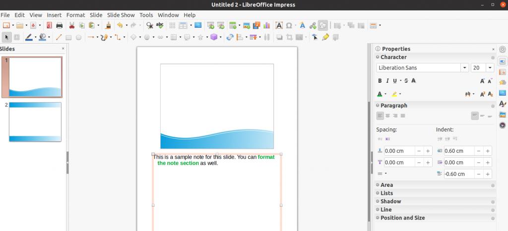 Impress Slides - Notes Added