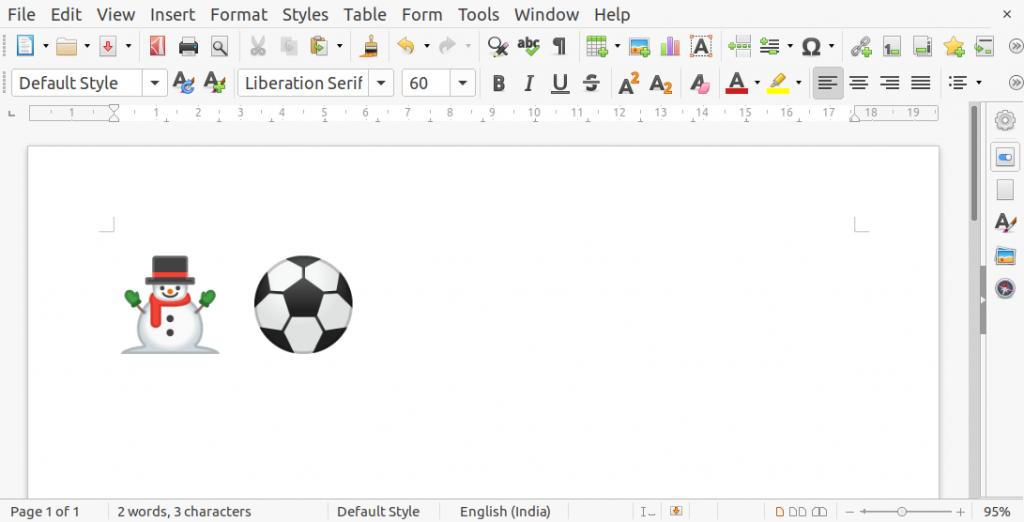 Unicode Typing in Writer