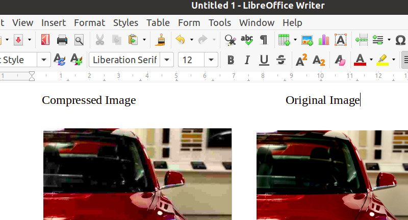 How to Compress Images in LibreOffice Writer