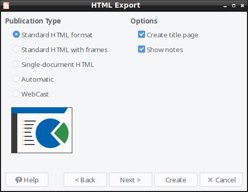 HTML Export - Format