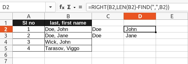 Using RIGHT and LEFT function