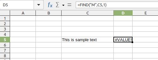 FIND with case sensitive example